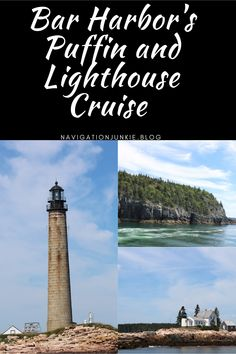 Bar Harbor's Puffin and Lighthouse Cruise takes visitors around the harbor for some stunning views of Acadia National Park, lighthouses, and wildlife. #barharbor #puffinandlighthousecruise #lighthouses #maine #acadianationalpark