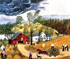 Thunderstorm-- by Grandma Moses