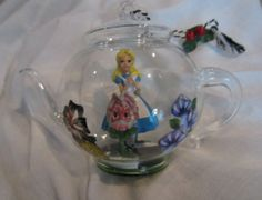 Disney Alice in Wonderland Glass Teapot Ornament