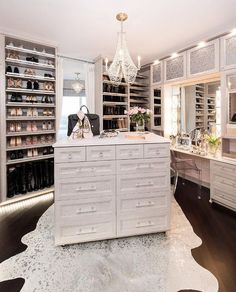 37 + Unanswered Concerns About Glam Room Closet Vanity Ideas 56 Walk In Closet Design, Bedroom Closet Design, Closet Designs, Closet Rooms, Closet Island, Closet Vanity, Closet Mirror, Luxury Closet, Glam Closet