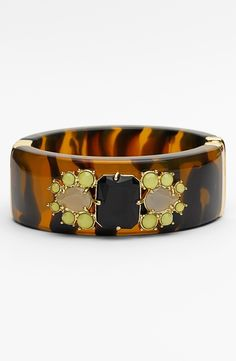 Kate Spade Tortoise Hinged Bangle.