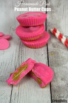 Homemade Pink Peanut Butter Cups - A Spark of Creativity