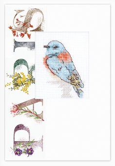 Modern Wide Linen Xmas P18 Finches In Snow Swap Playing Card