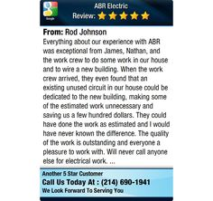 Everything about our experience with ABR was exceptional from James, Nathan, and the work...