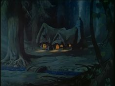 Snow White And The Seven Dwarfs. Animation Backgrounds.