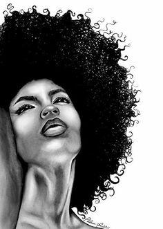 39 ideas for hair curly afro black art Black Love Art, Black Girl Art, Art Girl, African American Artist, African Art, Natural Hair Art, Natural Hair Styles, White Afro, Tableau Pop Art