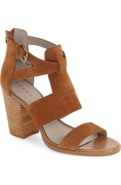 Hinge 'Cora' Block Heel Sandal (Women) available at #Nordstrom (Also so cute in the Taupe)