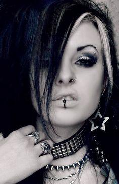 #Goth girl sneer