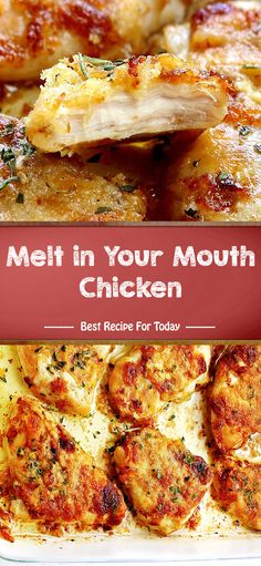 chicken mouth melt your in Melt in Your Mouth ChickenYou can find Chicken recipes and more on our website Chicken Pasta Recipes, Healthy Chicken Recipes, Meat Recipes, Dinner Recipes, Cooking Recipes, Easy Meals, Favorite Recipes, Crockpot, Recipes