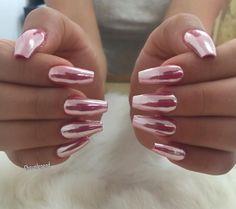 Pink Chrome Nails
