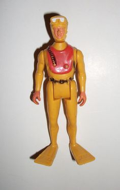 1982 Porto Play Military One Frogman Vintage 3 3/4 Action Figure GI Joe KO   3Y #PortoPlayInc