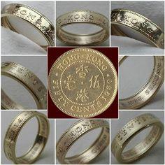 50 #cents #hong #kong #hongkong #coin #ring #coinring #coinrings #art #handmade #vintage #jewel #jewelry