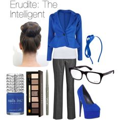 """Divergent Fashions: Erudite"" by emilyj-eggenberger on Polyvore"