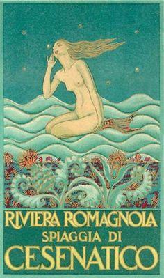 """Cesenatico, port town on the Adriatic coast of Italy. """"Riviera Romagnola Spiagga Di Cesenatico"""""""