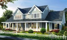 House Plan 66485 | Farmhouse Plan with 2481 Sq. Ft., 4 Bedrooms, 3 Bathrooms, 3 Car Garage