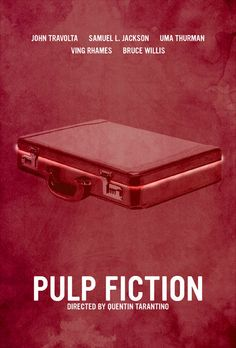 Pulp Fiction (1994) ~ Minimal Movie Poster by Calm the Ham #amusementphile