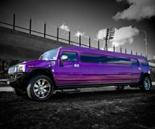 awesome purple hummer limo!