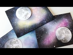 How to Create a Galaxy Background | Distress Ink Blending | TheCraftBunny - YouTube