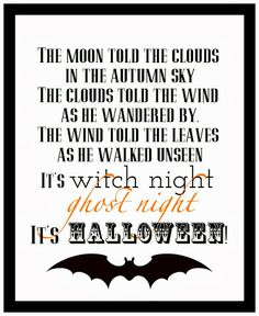 It's Halloween {Free Printable} @ Blissful Roots