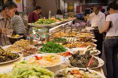 Buffet végétarien à Taipei © Camille Oger