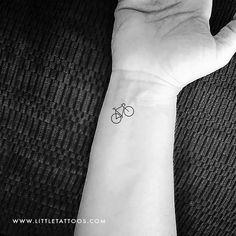 Small Bike Temporary Tattoo - Set of 3 – littletattoos Bicycle Tattoo, Bike Tattoos, Map Tattoos, Travel Tattoos, Henna Tattoos, Indie Tattoo, Coordinates Tattoo, Skyline Tattoo, Compass Rose Tattoo