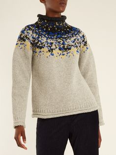 Acne Studios Sirus jacquard-yoke wool sweater