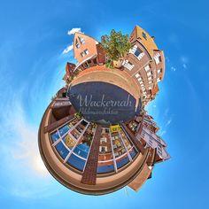 Little Planet 360 Grad Fotografie Juist Friesenstrasse © 2015 Adrian J.-G. Wackernah