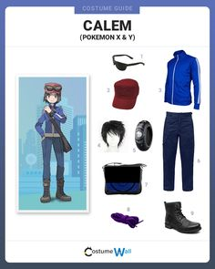 Look the part of Calem, a Pokemon trainer who battles in Pokemon X and Y against his female counterpart Serena.