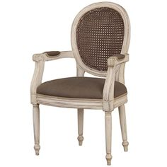 Tulip Rattan Back Dining Arm Chair w/out Flutted Leg - Dining Chairs - Dining - Furniture - Products