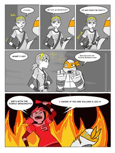 Walks like an Angel part 29 by ActionKiddy on deviantART | haha I don't ship Mikey and Angel but this is hilarious!