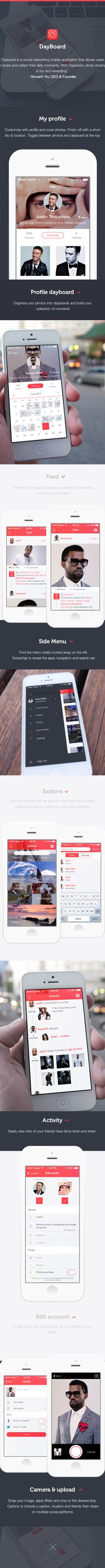 Dayboard - Social Platform by Ben Dunn, via Behance