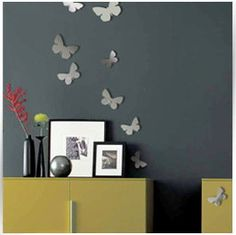 Mirror on the wall Butterfly Wall decoration by ModernWallClock, $31.88