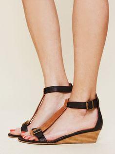 Jeffrey Campbell Province Mini Wedge Sandal - Black