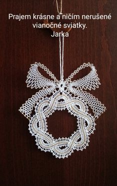 Bobbin Lace Patterns, Crochet Patterns, Crochet Coaster Pattern, Bruges Lace, Easy Stitch, Lacemaking, Point Lace, Xmas, Christmas Ornaments