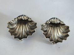 Silver Open Salts By Joseph Gloster 1905 Matching Pair by Rhodons