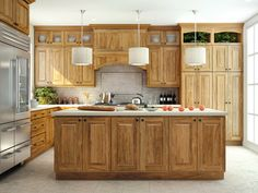 15 Hickory Kitchen Cabinets Design Ideas -       googletag.cmd.push(function()  googletag.display('div-gpt-ad-1471931810920-0'); );    Hickory kitchen cabinets, made of hickory hardwood, are highly valued and opted for their resilience, beauty, prominent grains and strength. Hickory is a sturdy North American hardwood, which is...  Hickory Kitchen Cabinets, Kitchen Cabinets, Wood Kitchen Cabinets http://evafurniture.com/hickory-kitchen-cabinets/