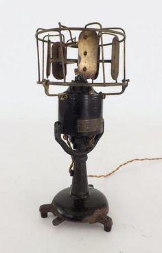 Early Electric Menominee Brass Teller Desk Fan Antique   eBay