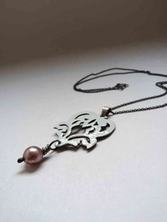Marie Antoinette Pendant  Sterling silver and copper by aforfebre, $49.00