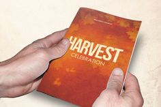 Harvest Celebration Church Bulletin Template can be used for your Sermons, Conferences, Youth Programs etc. In this package you'll find 2 Photoshop files. All text and graphics in the file are editable, color coded and simple to edit. The file also has 9 one-click color options.