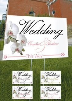 Personalized Calla Lilly Wedding Directional Sign (DB) ♥