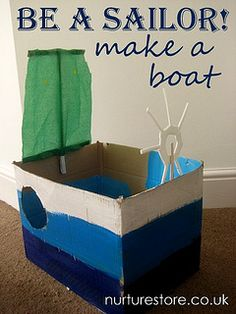 Boat out of cardboard box