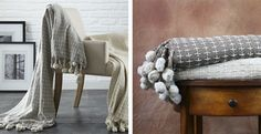 2 Pack 100% Cotton Throws - Cross-Stitch