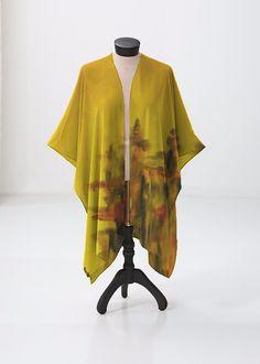 This sheer kimono-style wrap comes to the knee and drapes beautifully over a swimsuit or summer dress. Perfect for festivals or the beach. Kimono Top, Kimono Style, Kimono Fashion, Print Patterns, Swimsuits, Beach Artwork, Summer Dresses, The Originals, Detail