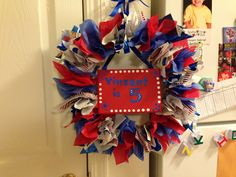 Spider-Man wreath, made from tissue paper