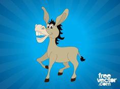 Cartoon Donkey vector free