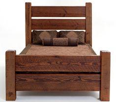 Barnwood Sleigh Bed