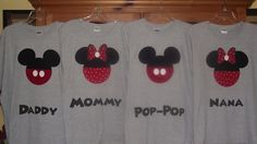 Minnie Mickey Mouse - Disney Birthday Family Custom T-Shirt Personalized Applique Head Tee Shirt Top. $18.00, via Etsy.