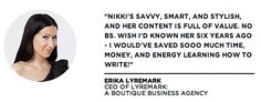 Erika Lyremark   More at www.nikkielledgebrown.com/social-proof