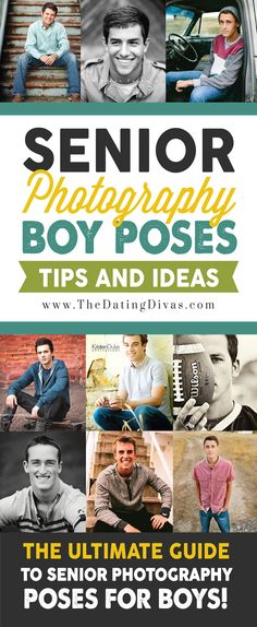 This is the ULTIMATE senior photography posing guide for guys! I LOVE these…