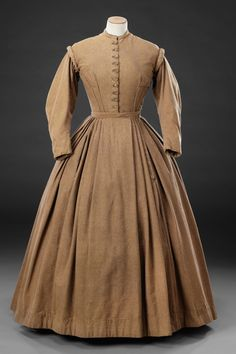 Day dress in unstated material, British, ca 1866-67. The John Bright Collection, nr. ?